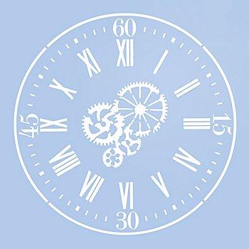 buttinette Pochoir horloge 'roue dentée'