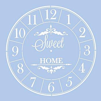 buttinette Uhr-Schablone 'Sweet Home'
