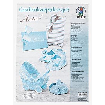 Ursus Papier-Set Geschenkverpackungen 'Anton', für 7 Verpackungen