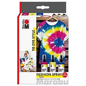 Marabu Fashion-Spray-Set 'Tie Dye', 3x 100 ml