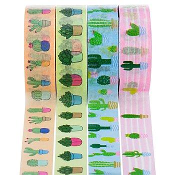 Ruban adhésif Washi Tape 'cactus', 15 mm, 32 m