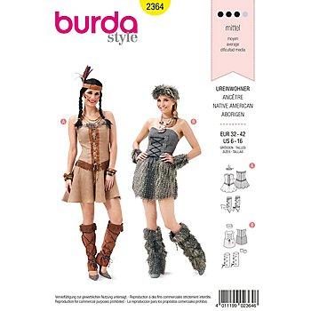 burda Schnitt 2364 'Ureinwohnerin & Indianerin'