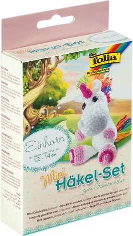 Mini Häkelset Schaf häkeln Wolle Handarbeit mit Zubehör und Häkelnadel Häkel Set