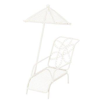 Relaxliege mit Schirm aus Metall, 12 x 9 x 15 cm