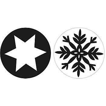Seifenstempel 'Schneeflocke und Stern', 2 Stück