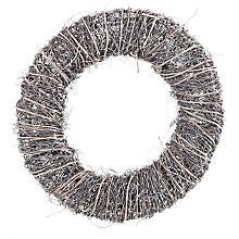 Couronne en sarment de vigne, gris/couleur naturelle, 35 cm Ø
