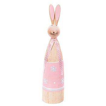 Holz-Hase, rosa, 25,5 cm