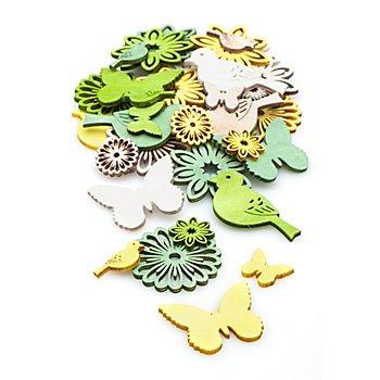 Motifs déco 'printemps', 1,5 et 4 cm, 40 pièces