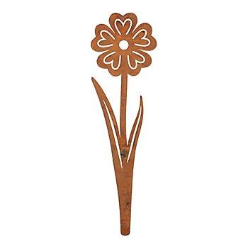 Rost-Blume aus Metall, braun, 46 cm