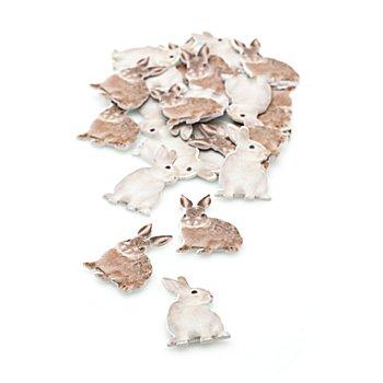 Motifs déco en bois 'lapins', 4 cm, 24 pièces