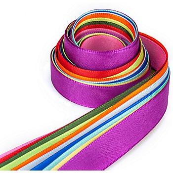 Set de rubans multicolores 'étroit', 15 mm, 10x 1,5 m
