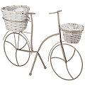 Metall-Fahrrad, grau, 35 x 53 cm