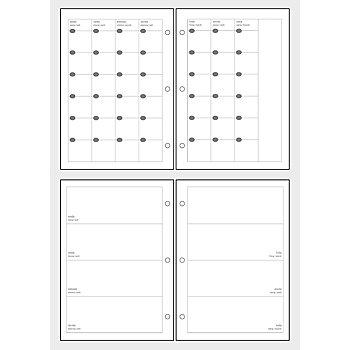 MyPlanner Fiches mensuelles/hebdomadaires DIN A5
