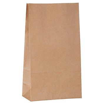 Kraft-Papiertüten, braun, 21 x 12 cm, 15 Stück