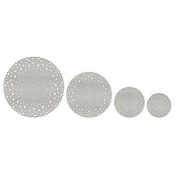 Ursus Set de papier dentelle 'étoiles', argent, 8 pièces