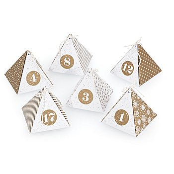 Adventskalender-Bastelset 'Diamond', gold-weiß