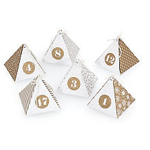 Adventskalender-Bastelset 'Diamond', gold-weiss