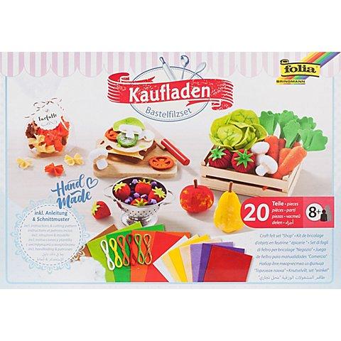 """Image of Folia Bastelfilz-Set """"Kaufladen"""", 20-teilig"""