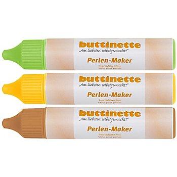 buttinette Perlen-Maker Set 'Frühling' 3x 30 ml