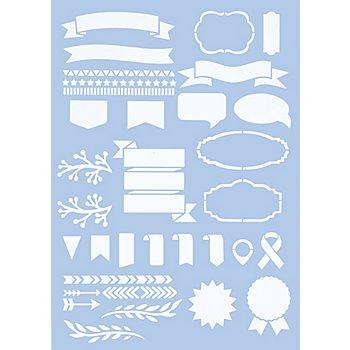 Schablone 'Handlettering', 21 x 29,7 cm