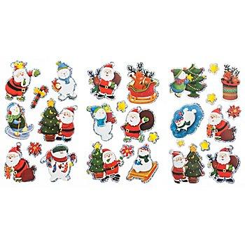 3D-Sticker 'Weihnachten', 3 Blatt