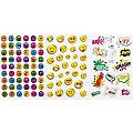 "Sticker ""Smileys & Schriften"", 3 Motive, 7 Blatt"