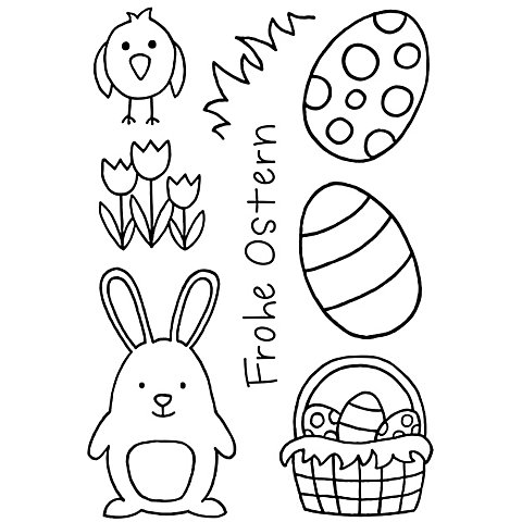 """Image of Clear Stempel-Set """"Frohe Ostern"""""""