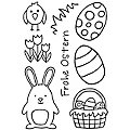 """Clear Stempel-Set """"Frohe Ostern"""""""