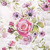 "Papierserviette ""Rosen"", 33 x 33 cm, 20 Stück"