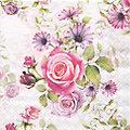 """Papierservietten """"Rosen"""", 33 x 33 cm, 20 Stück"""