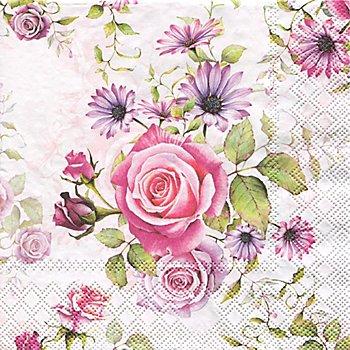 Papierservietten 'Rosen', 33 x 33 cm, 20 Stück