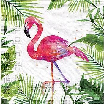 Papierservietten 'Flamingo', 33 x 33 cm, 20 Stück