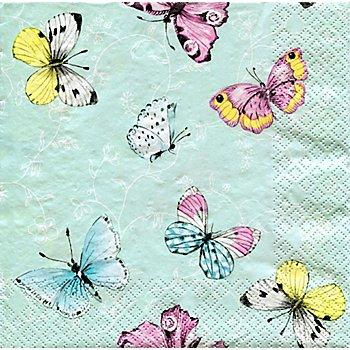 Papierservietten 'Schmetterlinge', 33 x 33 cm, 20 Stück