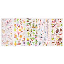 Folia Glitzer-Sticker 'Exotic', selbstklebend, 1 - 5 cm, 5 Blatt