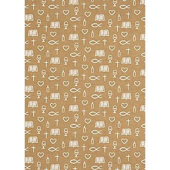 Designkarton 'Young Spirit', braun-weiß, 21 x 29,7 cm, 5 Blatt