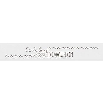 Ursus Transparentpapierstreifen 'Kommunion', silber, 4 x 23 cm, 5 Stück