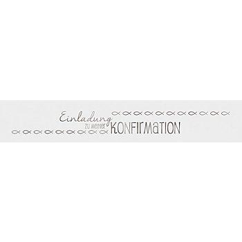 Ursus Transparentpapierstreifen 'Konfirmation', silber, 4 x 23 cm, 5 Stück
