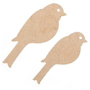 Oiseaux en MDF, 12,5 cm et 10,5 cm