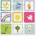 """Serviettes en papier """"communion"""", 33 x 33 cm, 20 pièces"""