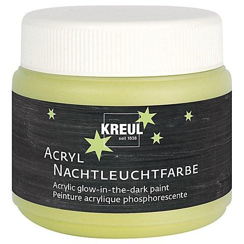Image of Acrylfarbe mit Nachtleuchteffekt, gelb, 150 ml