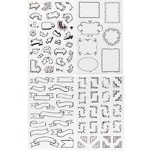 MyPlanner Sticker Verzierungen, schwarz-weiß, 4 Bogen