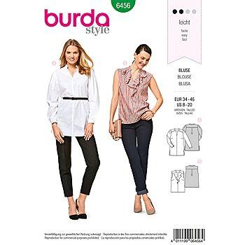 burda Schnitt 6456 'Bluse mit Stehkragen'
