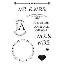 Clear Stempel Set 'Mr. & Mrs.'
