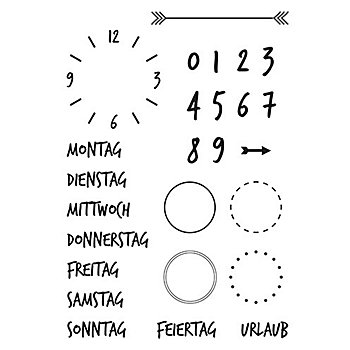 Clear Stempel-Set 'Kalender'