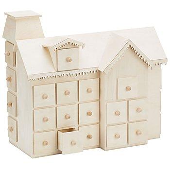 Holz-Adventskalender 'Haus'