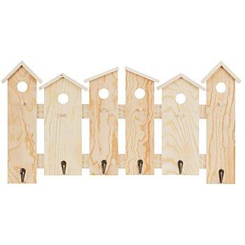 Garderobe aus Holz 'Häuser'