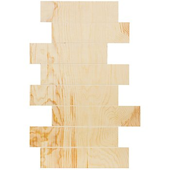 Panneau en bois brut, en décalé, 60 x 40 cm