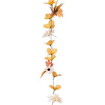 Blättergirlande mit Blüten, 1,95 m