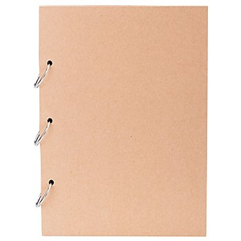 Papp-Album, mit Ringbindung, 19,5 x 27 cm, 30 Blatt