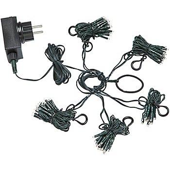 LED Weihnachtsbaum-Lichterkette, 223 Birnchen, mit Dimmer und Timer, für Bäume bis 2,10 m